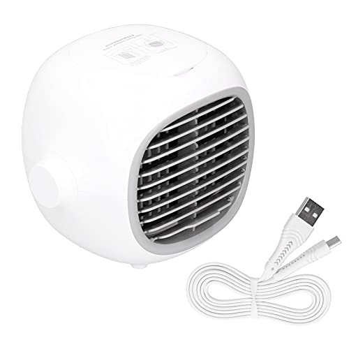 Portable Air Conditioner, Portable Design Air Conditioner Fan Evaporative Air Conditioner Fan Rapid Cooling with USB Cable for Office for School for Bedroom