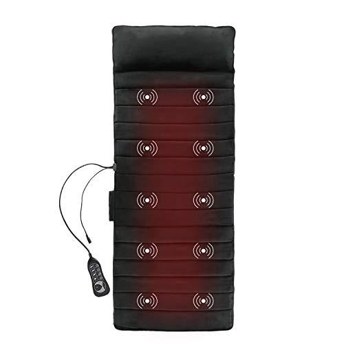 [2020 Upgraded]1byone Vibrating Massage Mat, Memory Foam Full Body Massage Pad of 10...