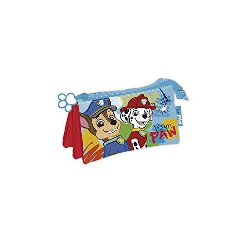 ARDITEX PW13201 Lapicero Portatodo Triple de 21x11cm de Nickelodeon-Patrulla Canina