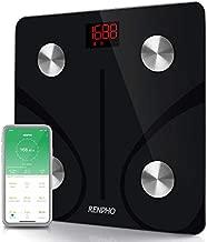 RENPHO Bluetooth Body Fat Scale Smart BMI Scale Digital Bathroom Wireless Weight Scale, Body Composition Analyzer with Smartphone App 396 lbs - Black