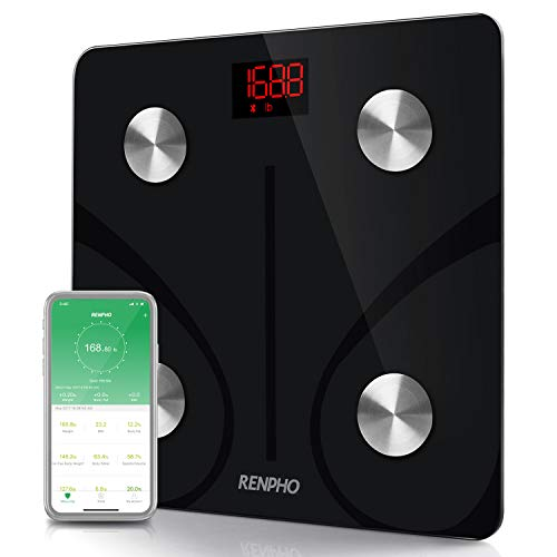 RENPHO Bluetooth Body Fat Scale Smart BMI Scale Digital Bathroom Wireless Weight Scale