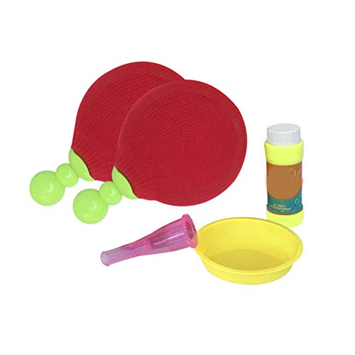 Alextry PingPong Bubbles Set Table Tennis Racket Game Party Fun Activity Play Toy for Children Kids