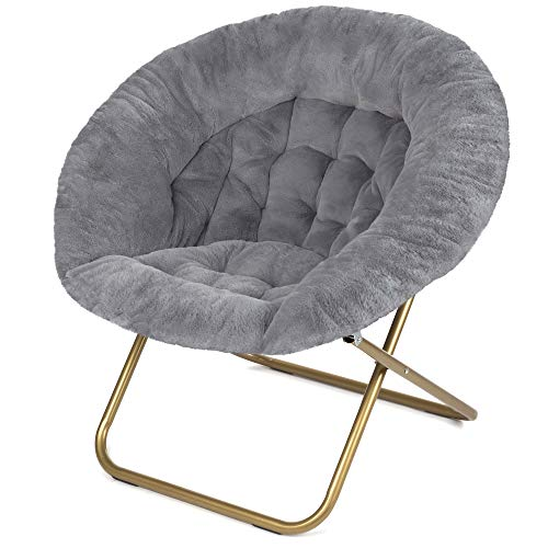 Milliard Cozy Faux Fur Saucer Chair