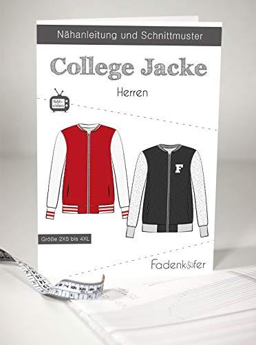 Fadenkäfer Papierschnittmuster College Jacke Herren