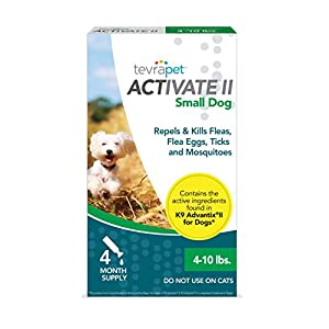 TevraPet Activate II Flea and Tick Prevention for Dogs – 4 Months Topical Flea and Tick Treatment and Control