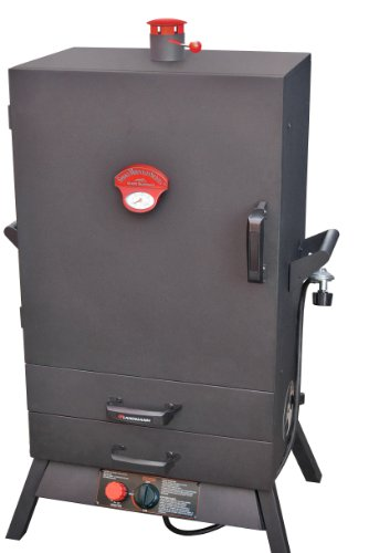 "Landmann USA 3895GWLA Smoky Mountain Vertical Gas Smoker, 38-Inch, 26"" Wide Chamber, Black"