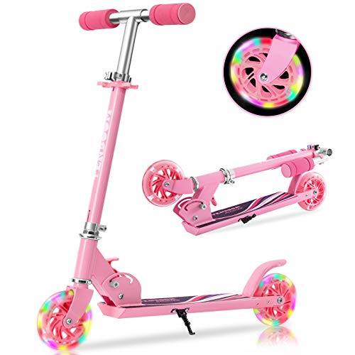 TENBOOM Scooter For Kids Ages 4-7 Boys Girls With Led Light Up Wheels, 2...