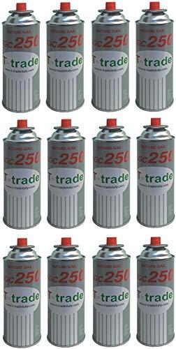 ALTIGASI 12 Stück Gaskartusche GPL 250 GR Art.KCG250 Ideal Schweißen oder Backofen, geeignet für CAMPINGAZ cp250 Brunner