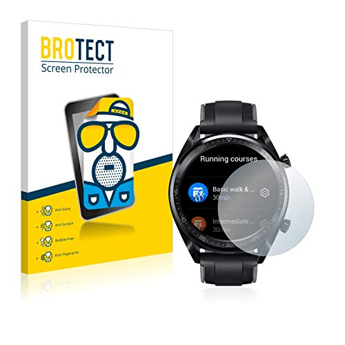 BROTECT 2X Entspiegelungs-Schutzfolie kompatibel mit Huawei Watch GT/GT Active Bildschirmschutz-Folie Matt, Anti-Reflex, Anti-Fingerprint