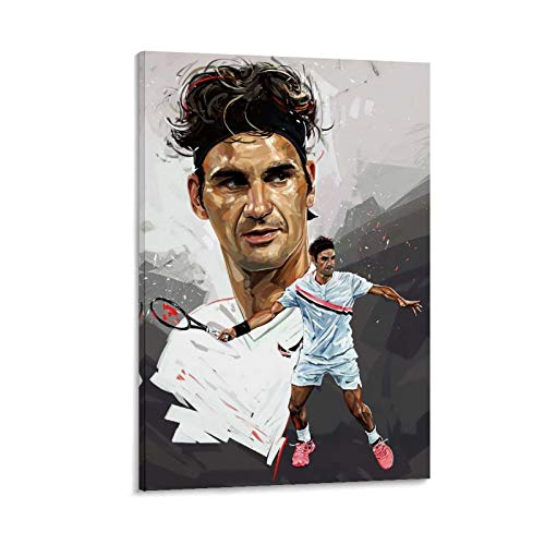 LBDZ Roger Federer Poster Wall Calendar - Celebrity Tennis Poster Calendar 2020-2021 Canvas Art Poster and Wall Art Picture Print Modern Family Bedroom Decor Posters 16x24inch(40x60cm) Indiana