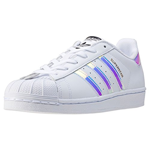 adidas Superstar J, Zapatillas Unisex Adulto, Blanco (Footwear White/Footwear White/Metallic Silver-Solid 0), 37 1/3 EU