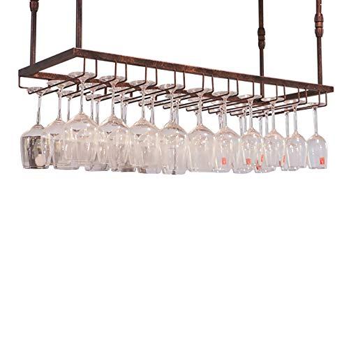 JHGJBJ Weinglashalter, Eisen hängend Regal Deckenhalter Regal Dekor, for Küche Bar Weinkeller, Einstellbare Höhe: 30-60 cm (Size : 120x35cm)