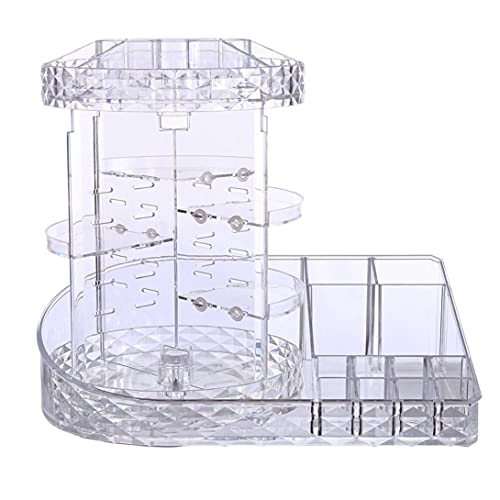 Makeup Organizer 360-Degree Rotating Plus Size,Adjustable Makeup Storage,7 Layers Large Capacity Cosmetic Storage Unit,Fits Different Types of Cosmetics and Accessories with Makeup Bag