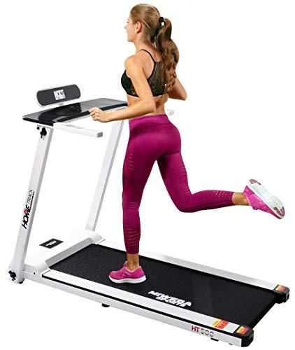 Miweba Sports elektrisches Laufband HT500 - Klappbar - 3 Ps - 14 Km/h - 12 Laufprogramme - Tablet Halterung - Große Lauffläche (Weiß)