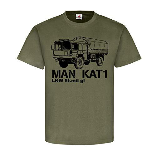 Kat 1 Man LKW 5t mil gl 5 Tonner Plane Pritsche Oldtimer Army T Shirt #19348, Größe:XL, Farbe:Oliv