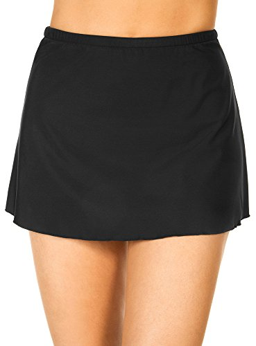 Miraclesuit Women's Swimwear Skirted Swim Pant Tummy Control Slimming Bathing Suit Bottom, Black, 08