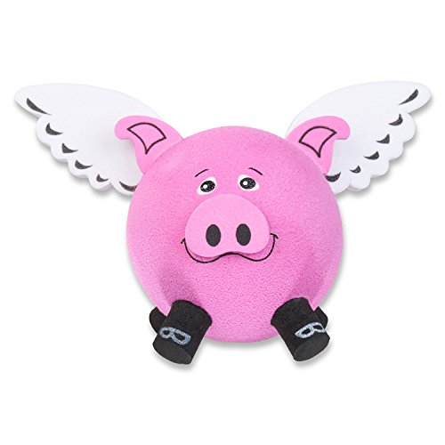 Tenna Tops Flying Pig Car Antenna Topper / Auto Mirror Dangler / Desktop Spring Stand Bobble Buddy (Pink)