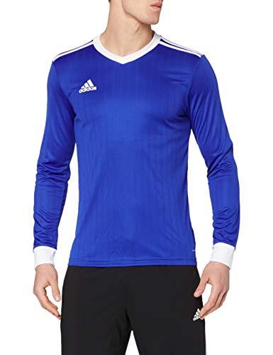 adidas TABELA 18 JSY L Camiseta de Manga Larga, Hombre, Bold Blue/White, S