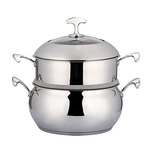 Roestvrij staal Steamer Pot/Voorraad Pot 24CM Dubbele Laag Voedsel Steamer Pot Stockpot Kookgerei Huishoudelijke Koken Tool Modern design 22CM Kleur