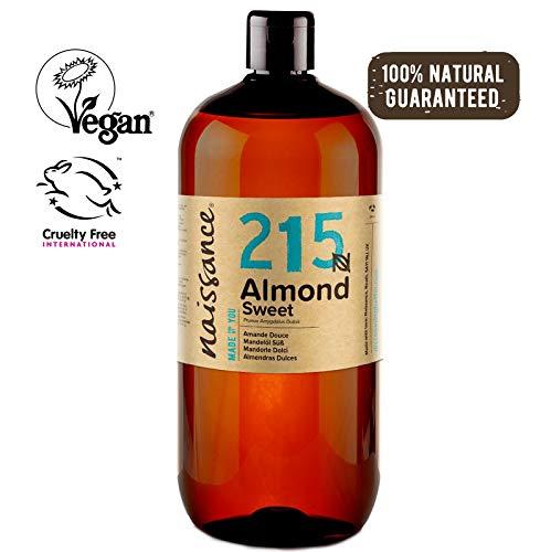 Naissance Huile d'Amande Douce (n° 215) – 1 litre – 100% naturelle, végan, sans OGM – parfaite pour les massages, le soin des cheveux et de la peau