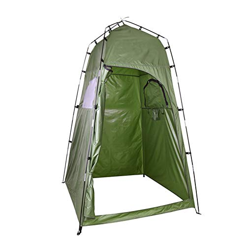 TZTED Umkleidezelt, Duschzelt Toilettenzelt Camping Faltzelt für Outdoor Strand Angel Camping Wandern Camping Duschzelt Outdoor Mobile Toilette Umkleidekabine Lagerzelt,Grün