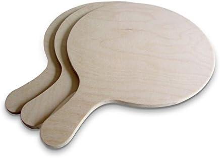 Planche /à pizza en bois dacacia des biscuits des g/âteaux 56 x 34 x 1,3 cm du pain Pelle /à g/âteau pour d/éplacer des pizzas Plateau de transfert rond Spatule /à pizza Plateau de service