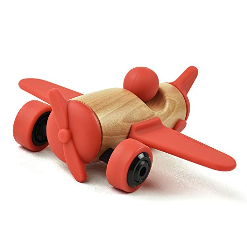 SWOODZ Wooden Toy Vehicles, Take Apart Plane, Assembly Wooden Toys, Wooden Plane,...