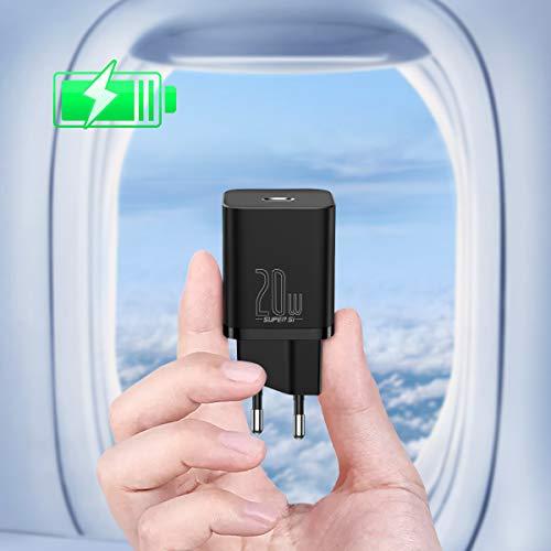 Caricatore USB C 20W,Caricatore USB da Muro Mini