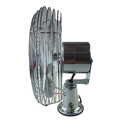 FEDERAL MILITARY PARTS Tractor CAB Cooling Fan Windshield DEFROST Chrome 2 Speed 600 CFM 12V - 24V