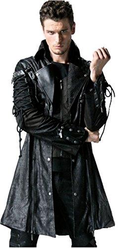 Dark Dreams Gothic Steampunk Jacke Mantel Gehrock Schnürung M L XL XXL Punk Rave, Größe:XXXXL