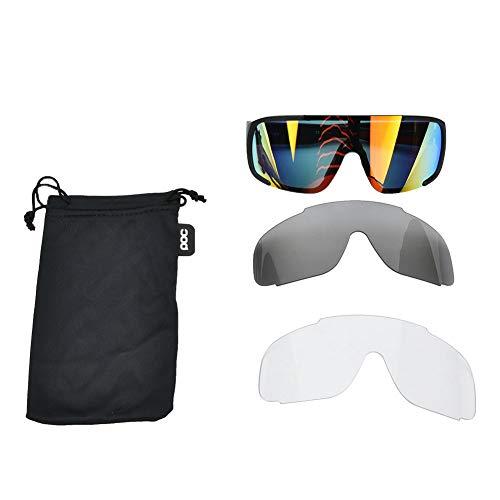 Deportes Al Aire Libre Gafas Polarizadas Gafas De Sol Anti-UV Gafas para Montar En Bicicleta Negro