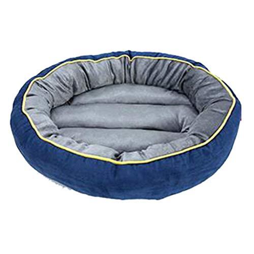 BEAAE-net hondenmand kattenbed sofakussen leer fleece bestendig en beetbestendig ronde kleine en middelgrote huisdier hondenmat