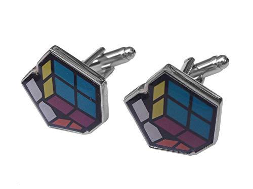 miniblings Cube Magique Boutons de Manchette Boutons avec boîte Jeu Game Cube