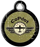 image of co-pilot dog tag by Dog Tag Art Custom Pet IDs