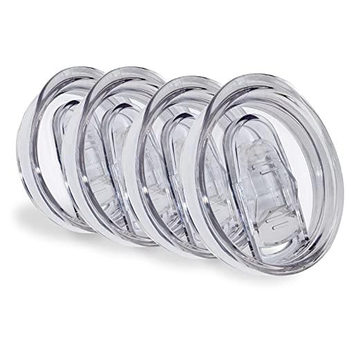 XccMe deckel für Weingläser, auslaufsicher, spritzwassergeschützt, aus Silikon, gleitend, strohfre&lich, BPA-frei, 4 Stück