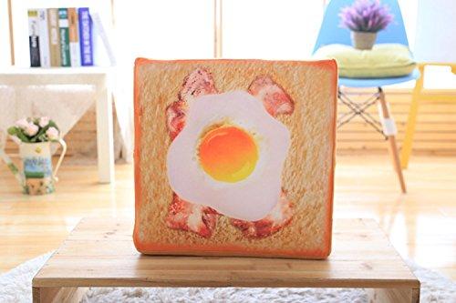 GUOYI Brot Weich Matratze Haustier Matte Katze Bett Pad für Katze Schlafen Kreativ Toast Brot Katze Kissen Niedlich Kopfkissen(Ei Brot)