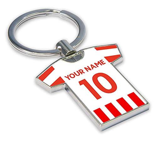 Personalised Stoke City Football Soccer T-Shirt Key Ring