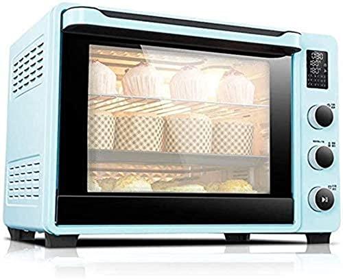 Horno multifunción, mini horno eléctrico con placa de cocina, horno para hornear para hornear el horno de la torta de la tostadora de la tostadora de la encimera de la convección automática 40L