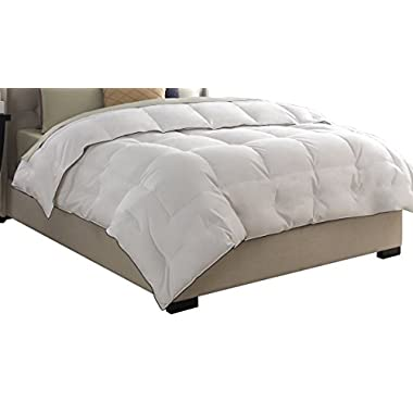 Pacific Coast Feather Company 67902 Medium Warmth Down Comforter, Cotton Cover, Hypoallergenic, Full/Queen