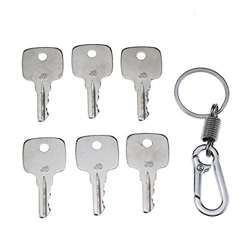 ZTUOAUMA Set of 6 Keys Ignition Keys #AR51481 for John Deere Equipment