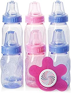 Evenflo Feeding Classic Tinted PP 4 oz. and 8 oz. 6 pack Gift Pack with Soother, 7 Count