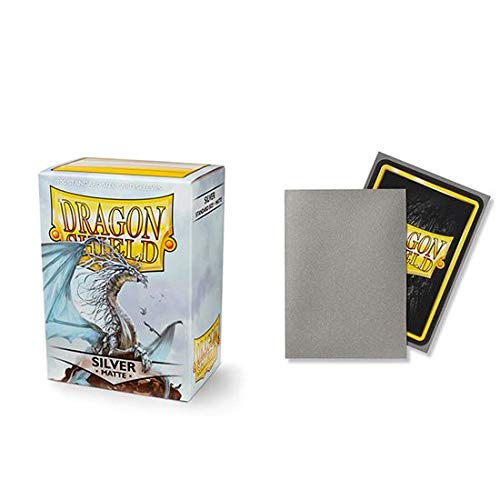 Dragon Shield Matte Silver Standard Size 100 ct Card Sleeves Individual Pack