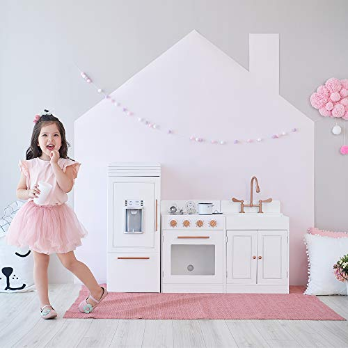 Teamson Kids - Little Chef Paris Modern Play Kitchen - White / Rose Gold