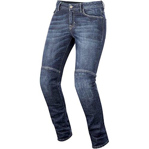 Alpinestars pantalones vaqueros de Moto mujer Daisy Lady Kevlar con protecciones (30, Dark Rinse)