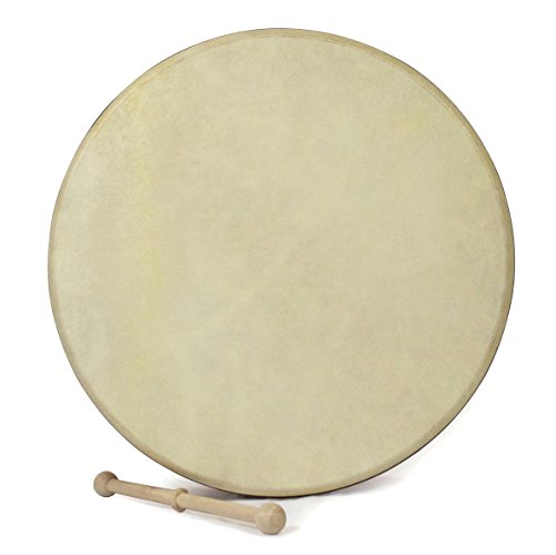 Waltons 15 Inch Celtic Burn Bodhrán - Handcrafted Irish Instrument - Crisp & Musical Tone - Hardwood Beater Included w/Purchase