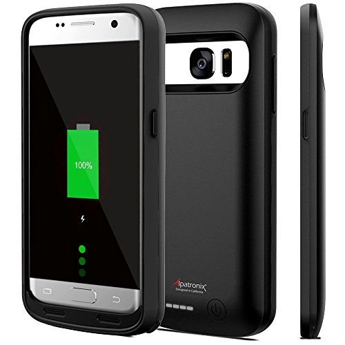 Galaxy S7 Battery Case, 4500mAh Slim Portable Protective Extended Charging Cover Rechargeable External Backup Charger Compatible with Samsung Galaxy S7 (5.1 inch) BX420 - (Black)