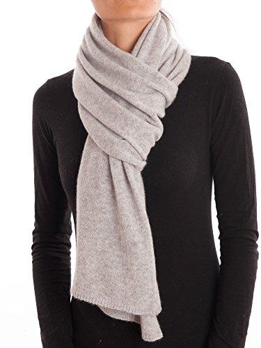 DALLE PIANE CASHMERE - Schal aus 100% Kaschmir - für Mann/Frau, Farbe: Grau, Einheitsgröße