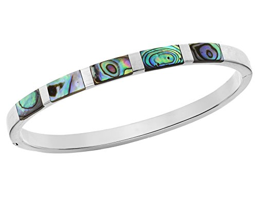 Tuscany Silver Damen Sterling Silber 5mm x 9.4mm Paua Shell Armreif 8.31.1976