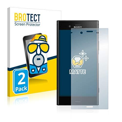 brotect Pellicola Protettiva Opaca Compatibile con Sony Xperia XZ1 Pellicola Protettiva Anti-Riflesso (2 Pezzi)