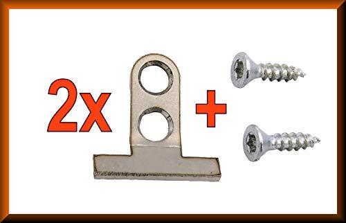2 x Frontbefestigung passend für BSH Bosch, Siemens, Neff, viele weitere aus Edelstahl Halterung Spülmaschine Türhalter Tür